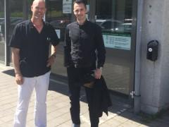 Adam Cwejman (fp) besökte Bergsjön vårdcentral