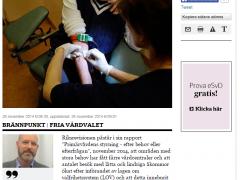 Vår läkare Christer Andersson i Svenska Dagbladet.