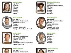 Läkarnas tider för drop-in vecka 1 – 2016